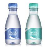 330ml Mineral Water Bottle PSD Mockup