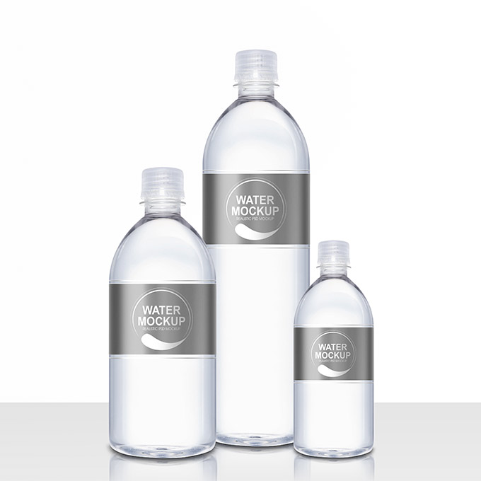 Packreate mineral water plastic bottle psd mockup for Mineral water label template