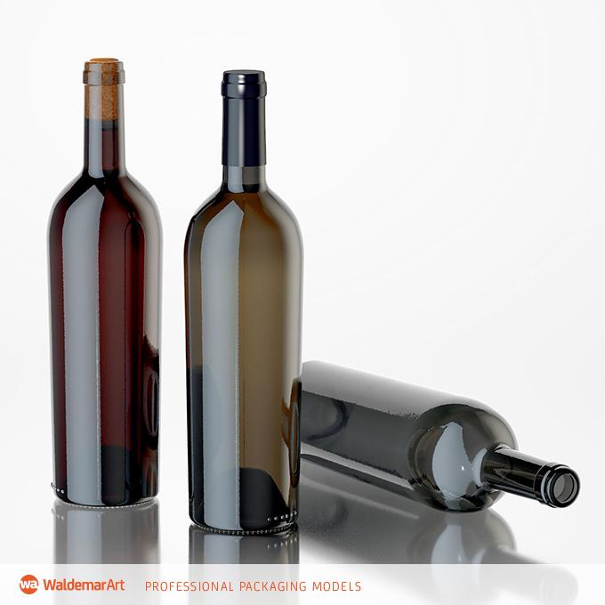 Packreate » Elegante – Wine Bottle 3D models