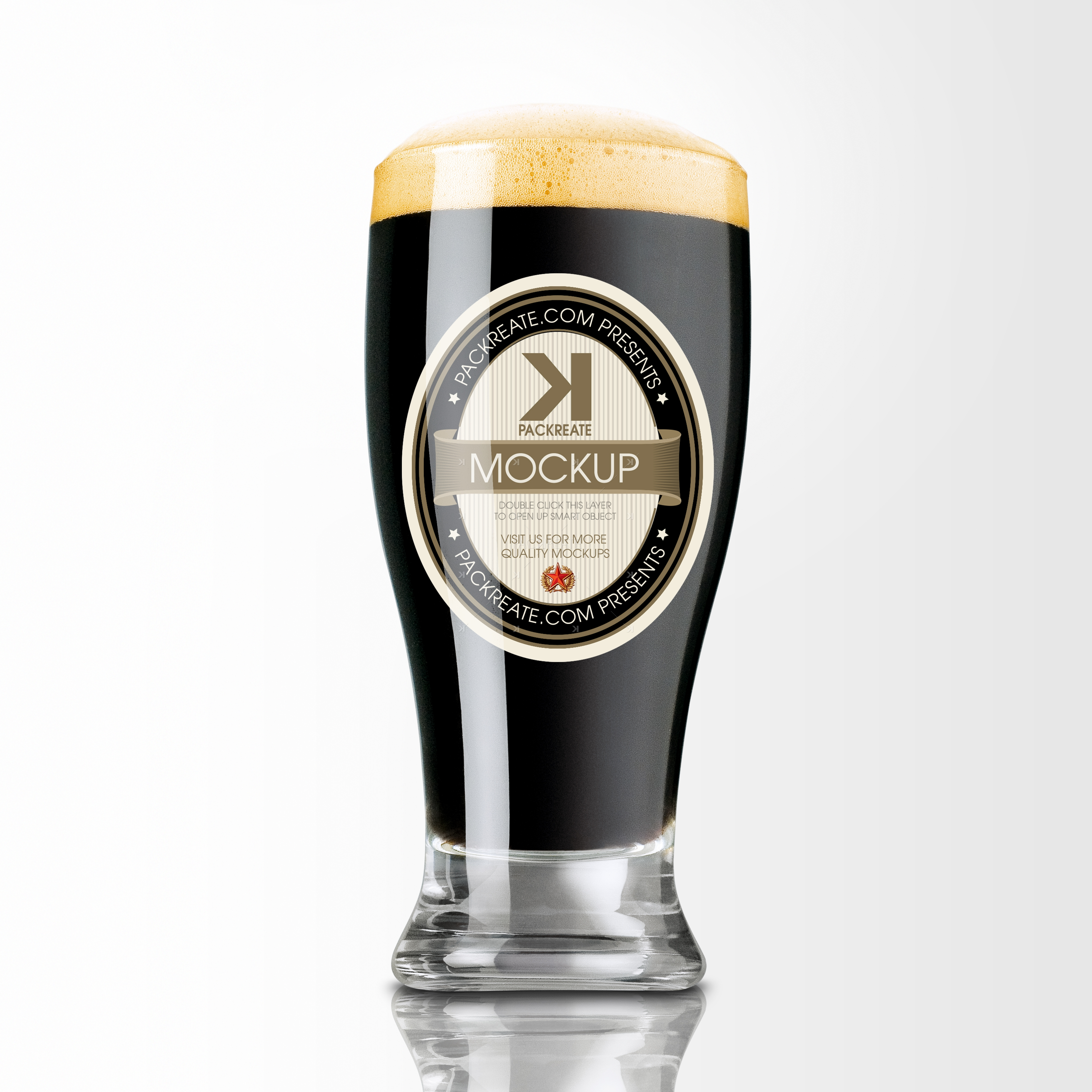 packreate  u00bb glass of stout beer psd mockup