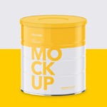 Milk Powder Can – High Angle Mockup