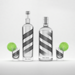 Distilled beverage bottle mockup