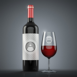 Wine Glass and Bottle – 3D Layer