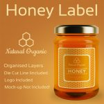Honey Label Design Template