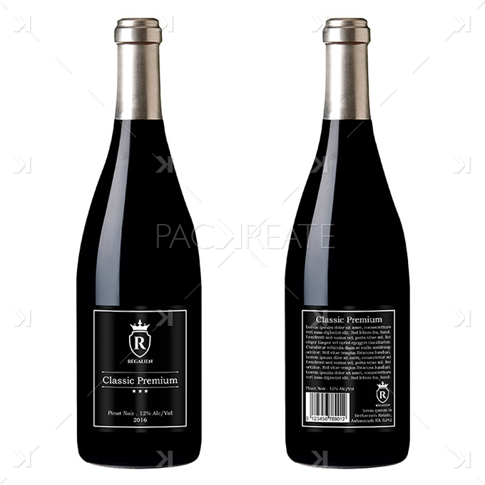 packreate wine label design templates