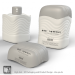 3D Flask Bottle – Wave Rectangle