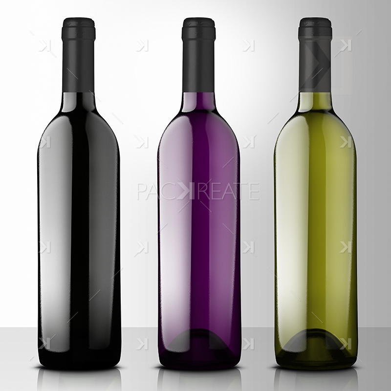 Packreate 187 Premium Wine Mockup With Side Tags