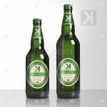 Beer Bottle PSD Mockup – Green Glass