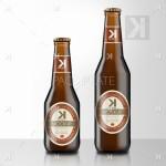 Beer Bottle PSD Mockup – Brown Glass #2