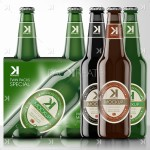 Beer Mock-Up Bundle – Twin Pack + 3 Beer Bottles