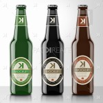 Beer Bottle PSD MockUps – 3 Colors Bundle