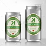 Beer Can PSD MockUp – Silver