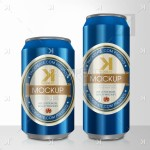 Beer Can PSD MockUp – Blue