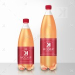Soda Plastic Bottle PSD Mockup – Fruit Flavor