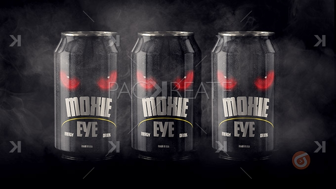 Packreate 187 Energy Drink Psd Full Project Mockup