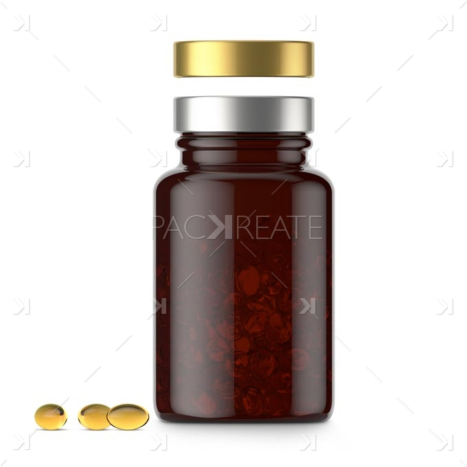 Packreate » Vitamin bottle 100cc Brown Glass & Smart ...