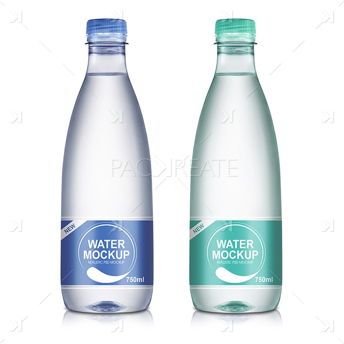 Packreate » 750ml Mineral Water Bottle PSD Mockup