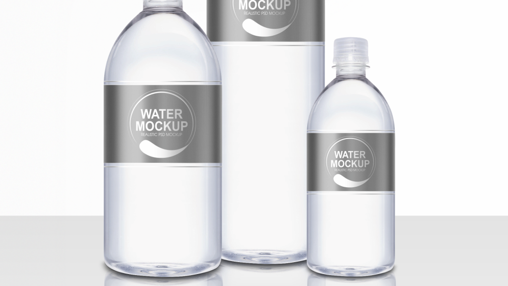 Mineral Water Plastic Bottle PSD Mockup - Packreate