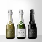 Mini Champagne Bottle PSD Mock Up