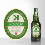Beer Bottle Label PSD Template