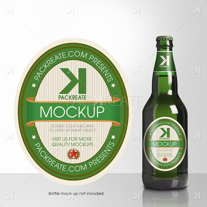 Beer Bottle Label PSD Template Packreate – Abel Templates Psd