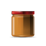 Jar of honey 350 ml vector mock-up