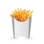 Large French Fries Packaging PSD Mockup