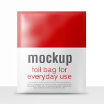 Realistic foil packaging PSD mock-up #2