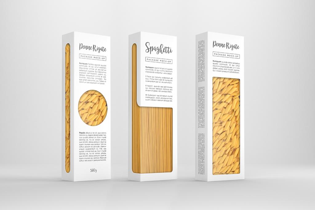 Packreate 187 Pasta Package Mockup