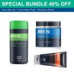 Men's Beauty Products PSD Mockup Bundle