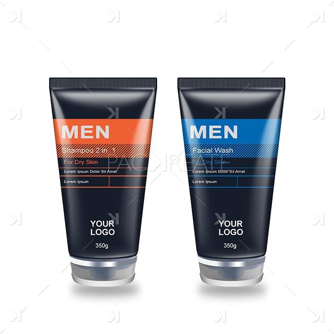 Packreate 187 Men S Facial Wash Shampoo Tube Psd Mockup
