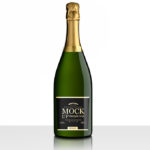 Champagne Brut Bottle Mockup – Black Label