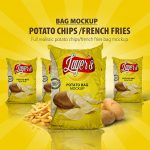 Chips-French Fries Bag Mock-up