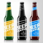 Modern Beer Bottle PSD Mockup
