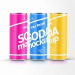 Modern Soda Can PSD Mockup