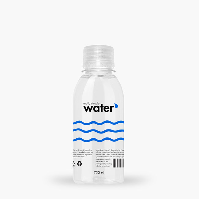 Packreate 187 Bundle Distilled Water Plastic Bottle Psd Mockup