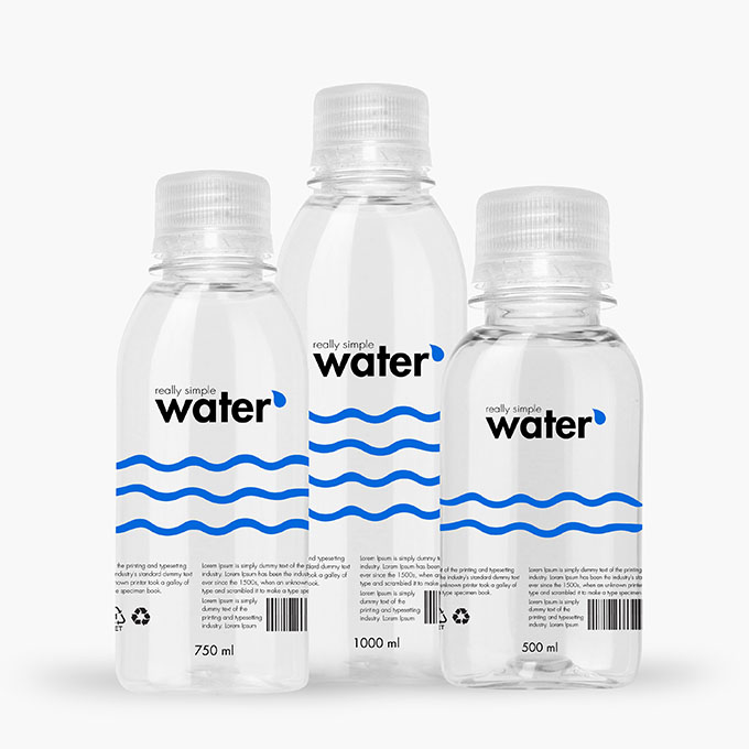 Download Packreate » Bundle - Distilled Water Plastic Bottle PSD Mockup