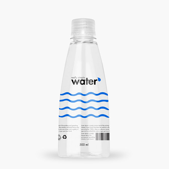 Packreate 187 Distilled Water Plastic Bottle Psd Mockup 1